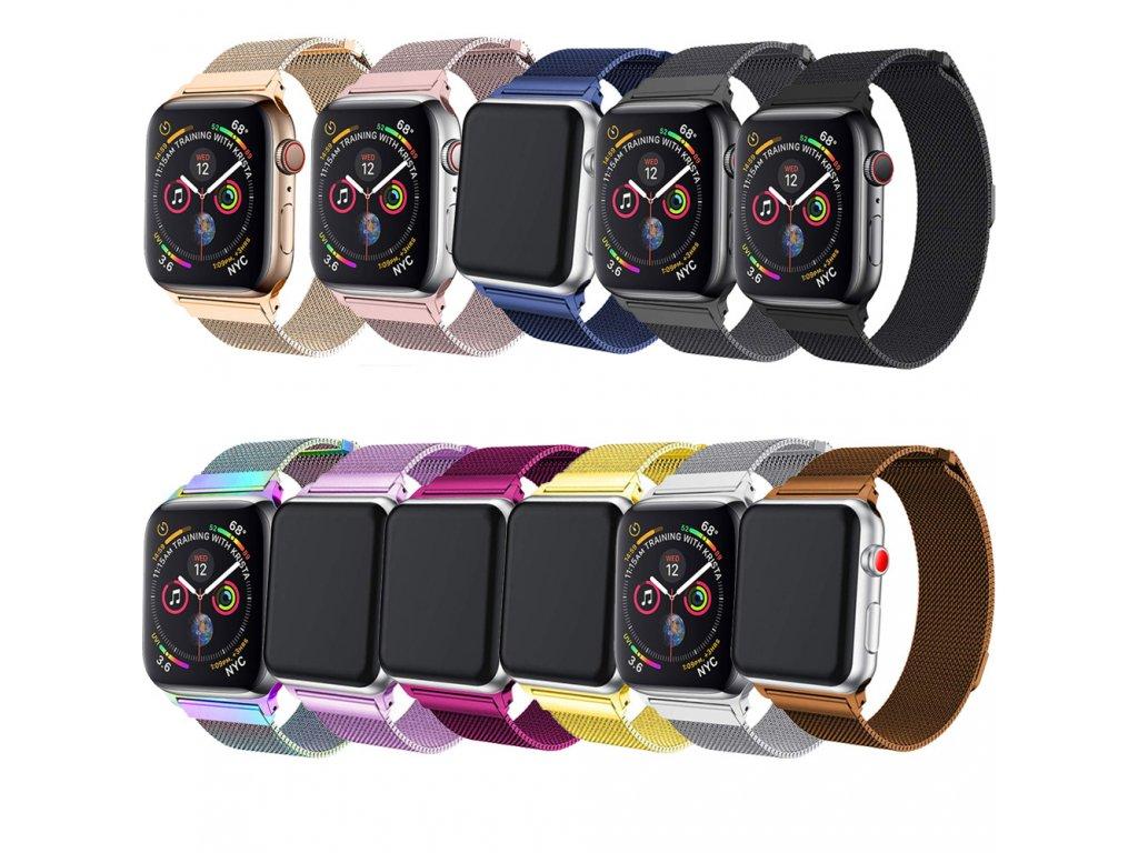 Milánský tah magnetický pro Apple Watch 38/40mm (Barevná varianta Zlato-hnědý)
