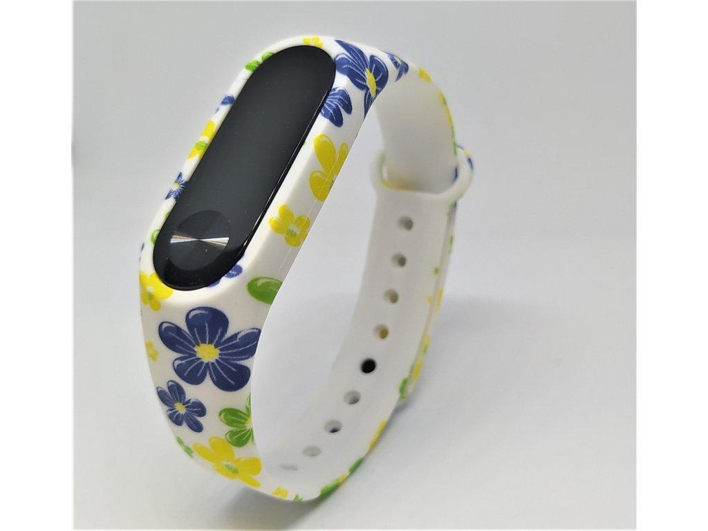 Květinová trikolora náhradní náramek pro Mi Band 2