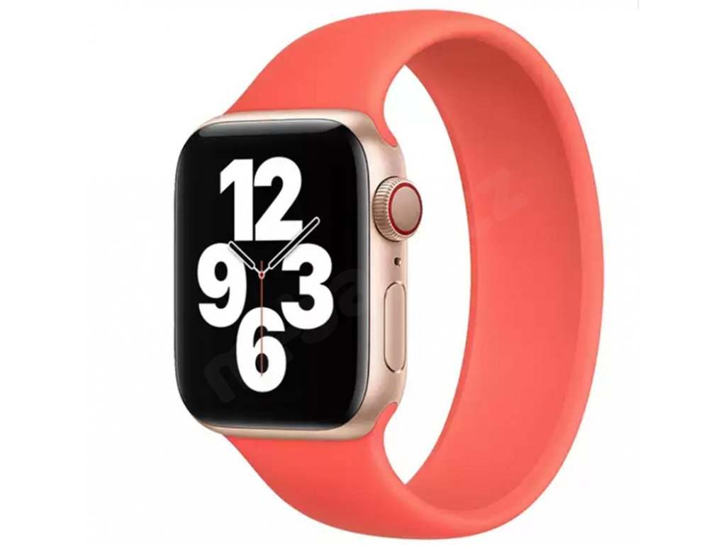 Jednobarevný silikonový náramek pro Apple Watch 38/40MM A 42/44MM (Barevná varianta Bílý, Velikost 42/44 mm)