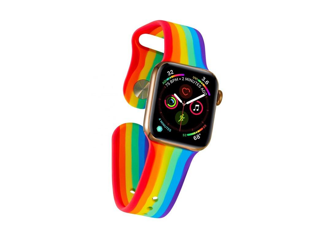 Pruhovaný náramek pro Apple Watch