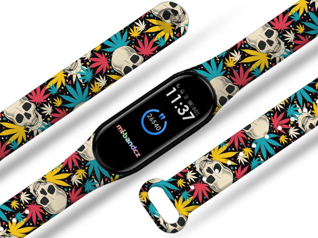 Cannabis lebky náhradní náramek pro Mi band 3/4/5/6 (Pro Přístroj Xiaomi Mi band 5)