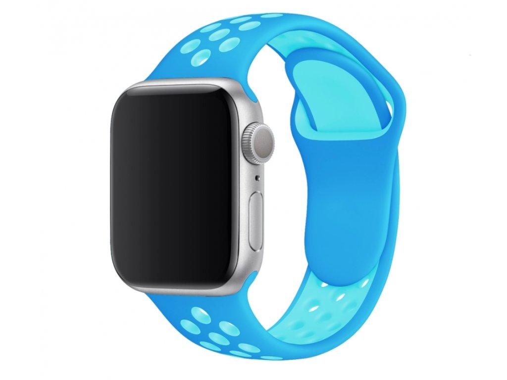 Perforovaný dvojbarevný pásek pro Apple Watch 38/40mm a 42/44mm (Barevná varianta Bílo-Růžová, Velikost 42 / 44 mm)