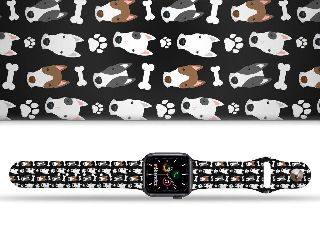 Bullteriéři řemínek pro Apple watch 38/40 a 42/44