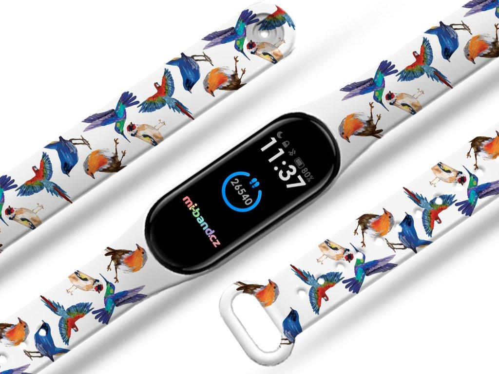 Ptáčci náhradní náramek pro Mi band 3/4/5/6 (Pro Přístroj Xiaomi Mi band 5)