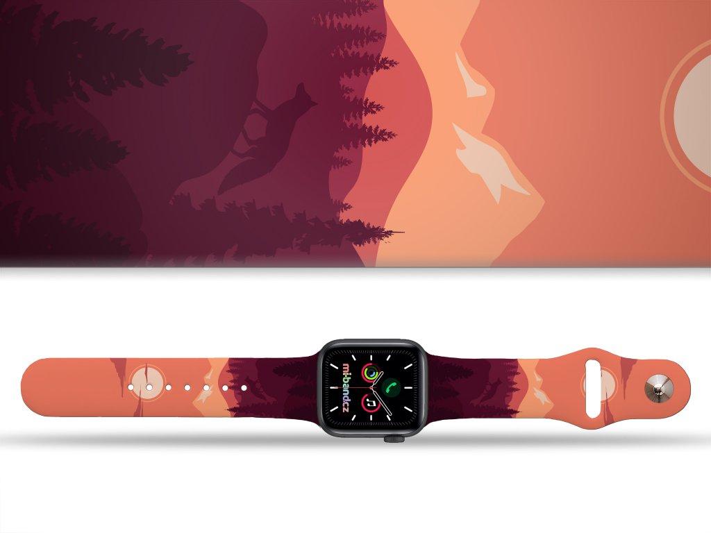 východ slunce na horách řemínek pro Apple watch