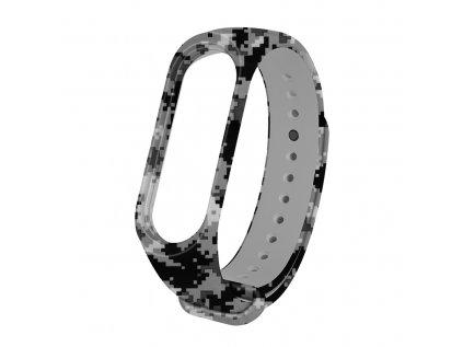 DIGIC náhradní náramek pro Mi Band 3/4 (Velikost Šedomodro-Černá)