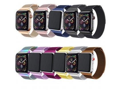 Milánský tah magnetický pro Apple Watch 42/44mm (Barevná varianta Zlato-hnědý)