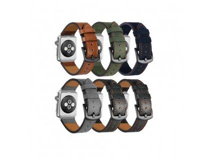 Kožený náhradní řemínek Premium pro Apple Watch 42/44mm