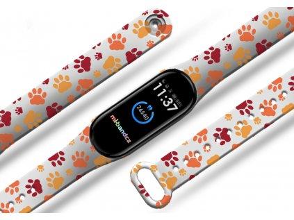 Kočičí tlapičky náhradní náramek pro Mi band 2/3/4/5/6 (Barevná varianta Bílá, Pro Přístroj Xiaomi Mi band 5)