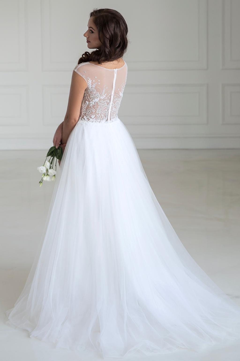 0d1d6cf7c1 Vyšívané svatební šaty FLORANCE s tylovou sukní - MiaBella