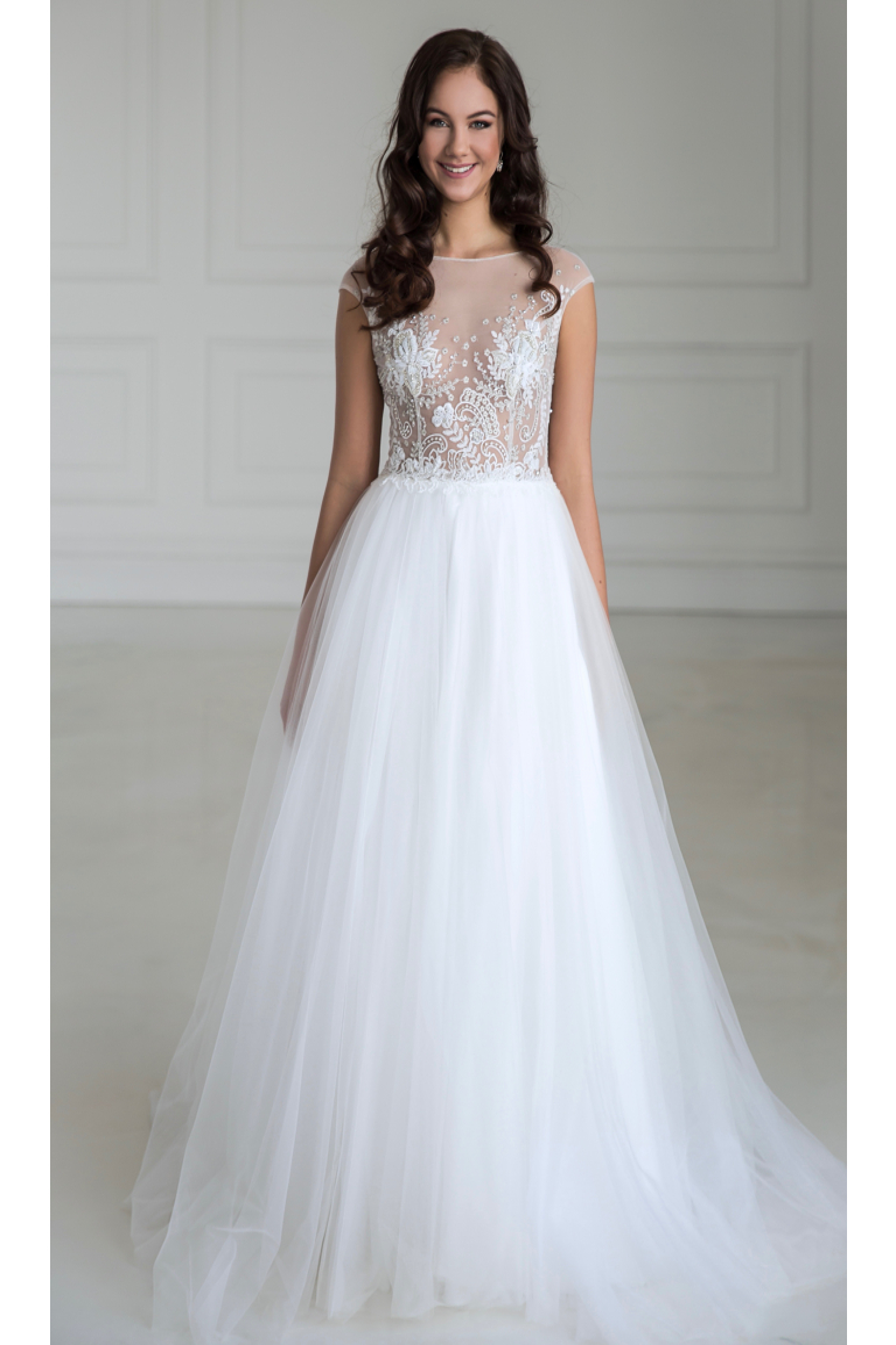 95435d56669 Vyšívané svatební šaty FLORANCE s tylovou sukní - MiaBella