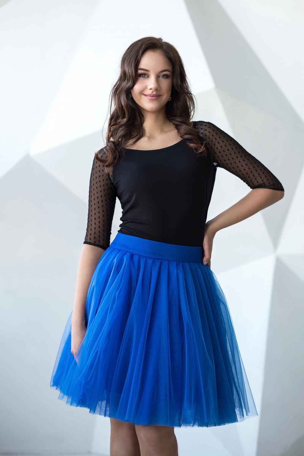 modra tutu sukne