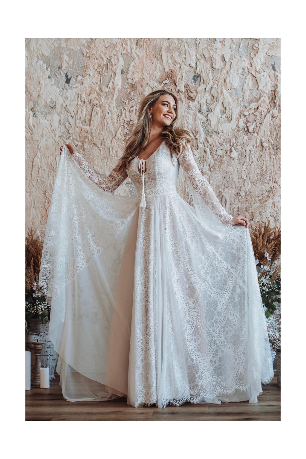 Bohémské svatební šaty Paloma