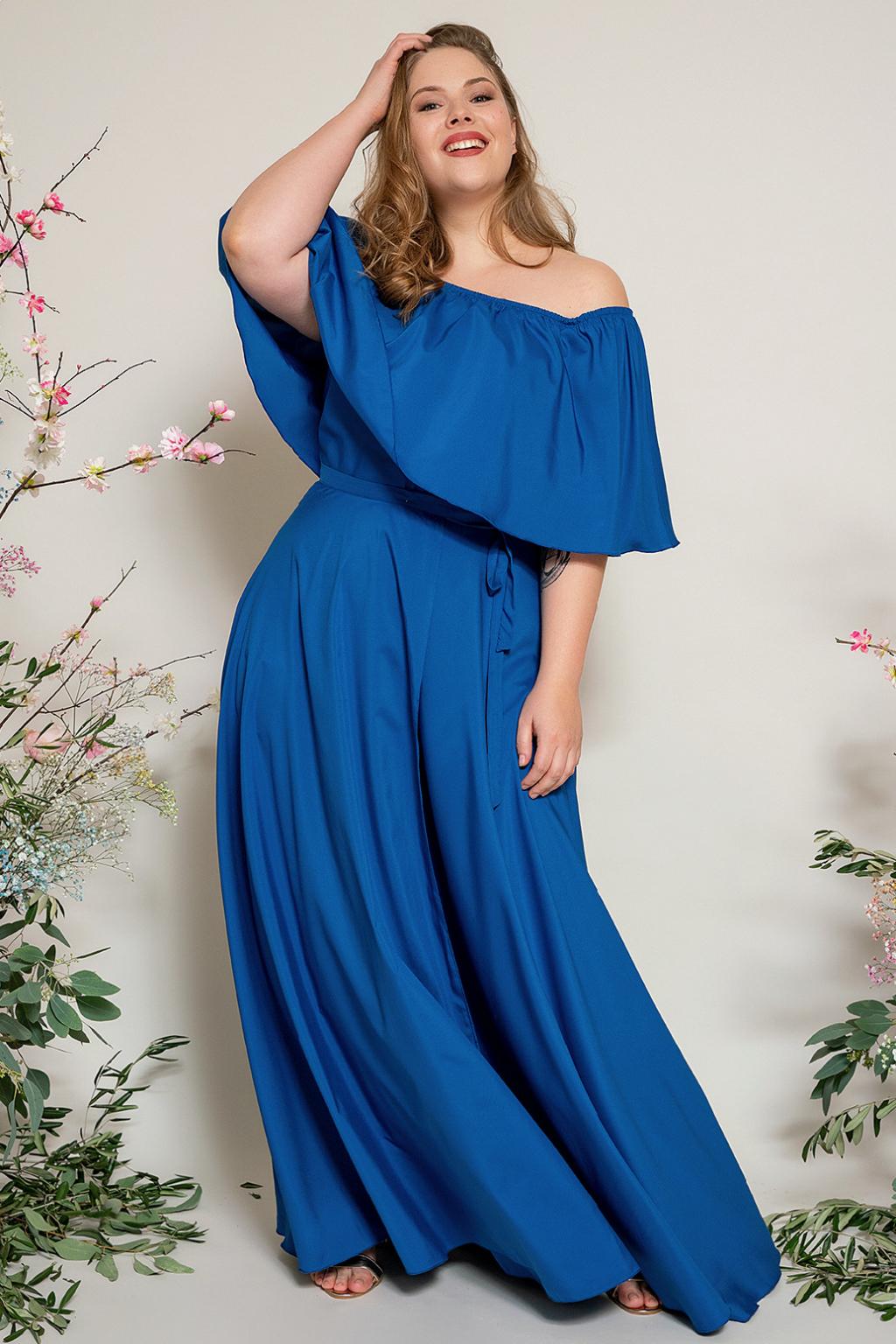 Dlouhá zavinovací sukně - výběr barev modré