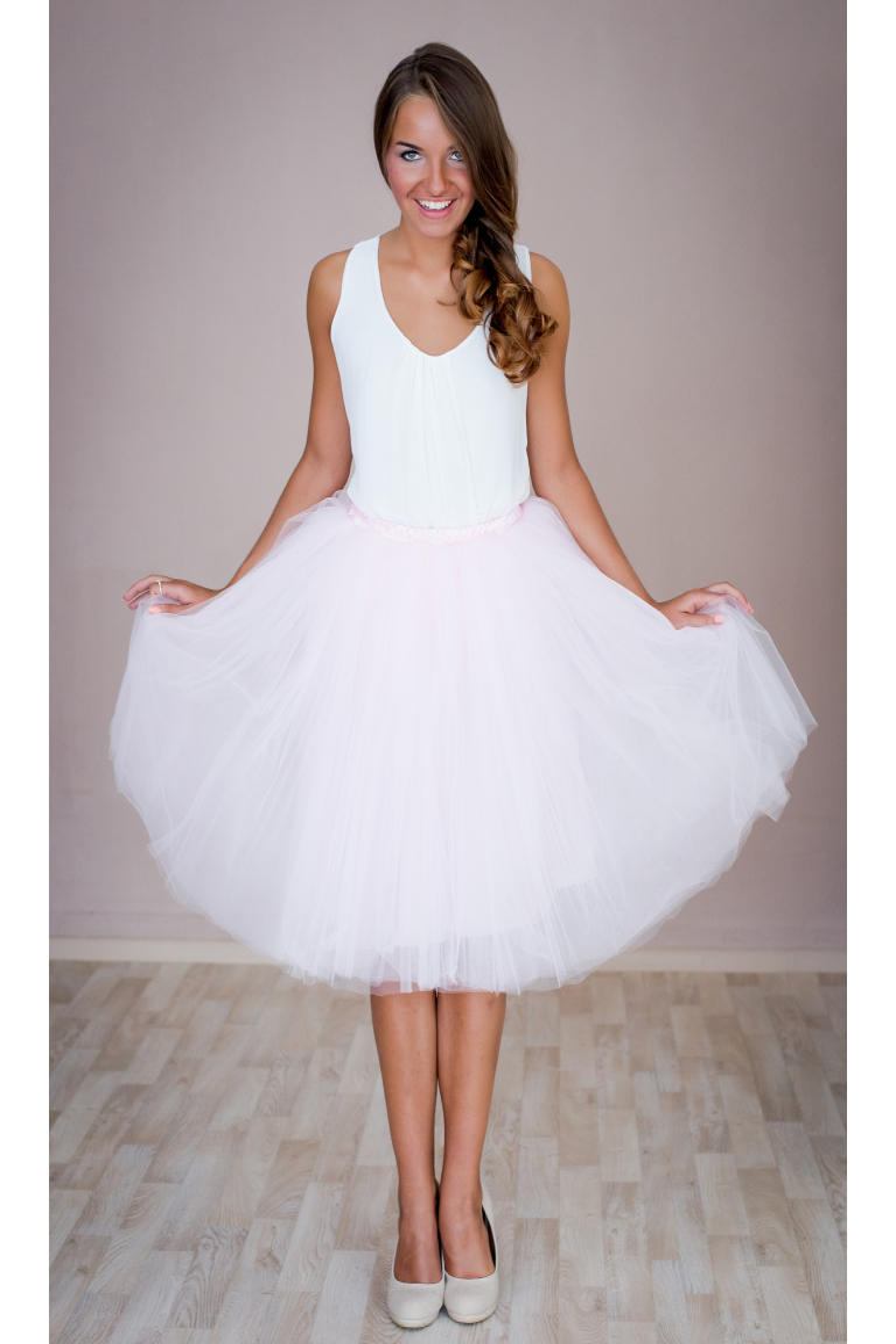 Dámská tylová TUTU sukně růžová