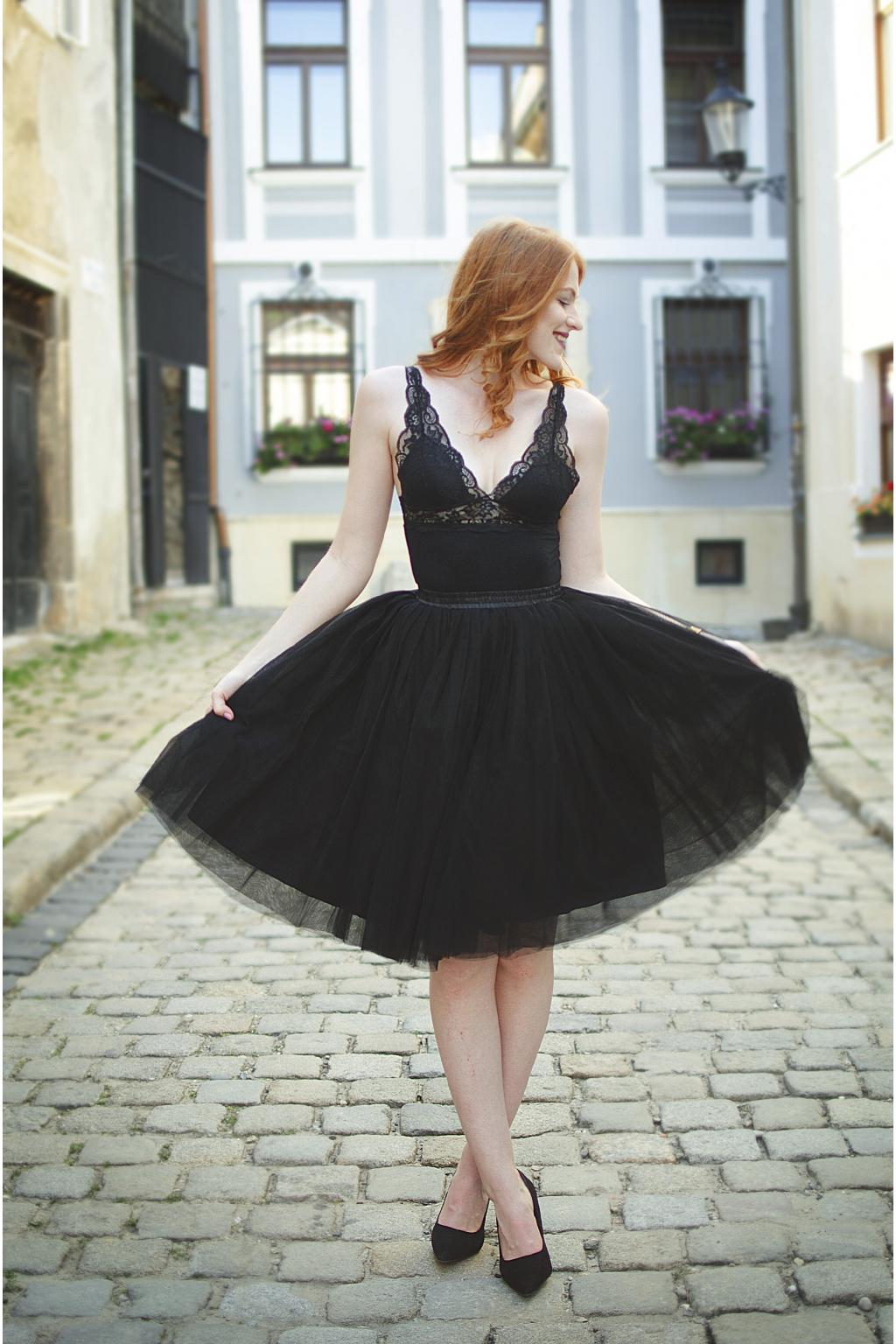 Dámská tylová TUTU sukně černá