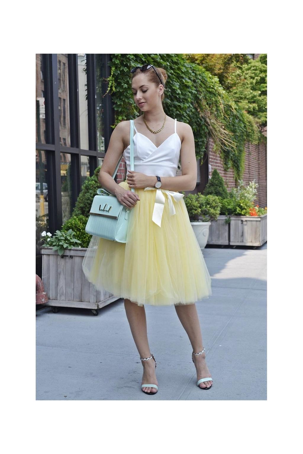 Dámská tylová TUTU sukně žlutá