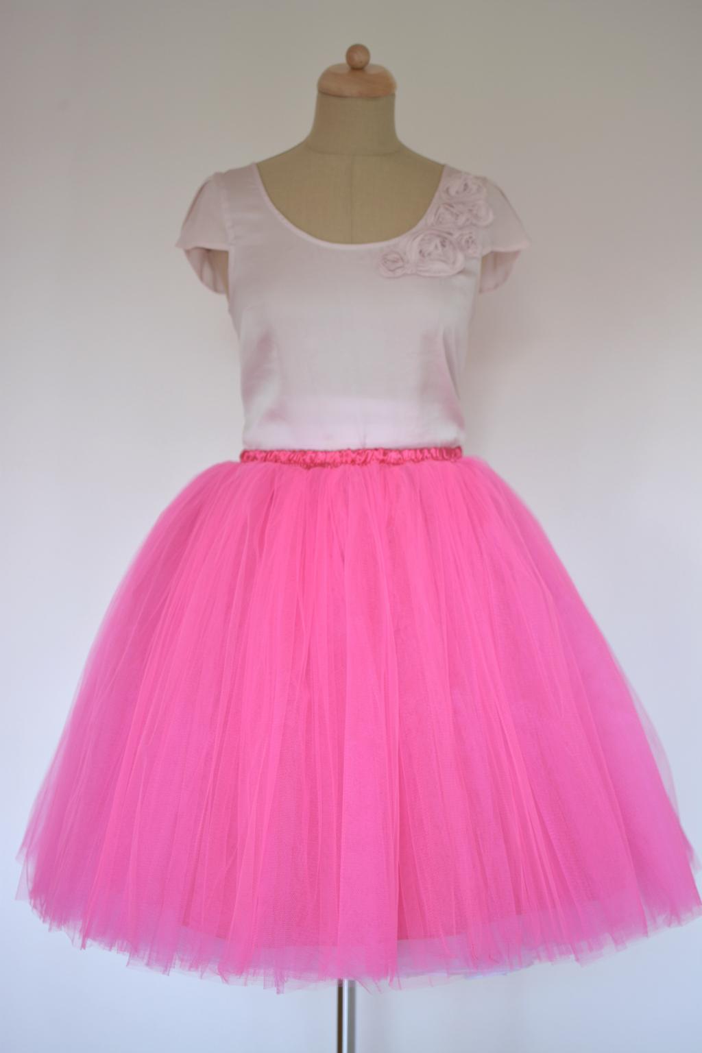 e70e6cd1fc0 Dámská tylová TUTU sukně tmavě růžová - MiaBella