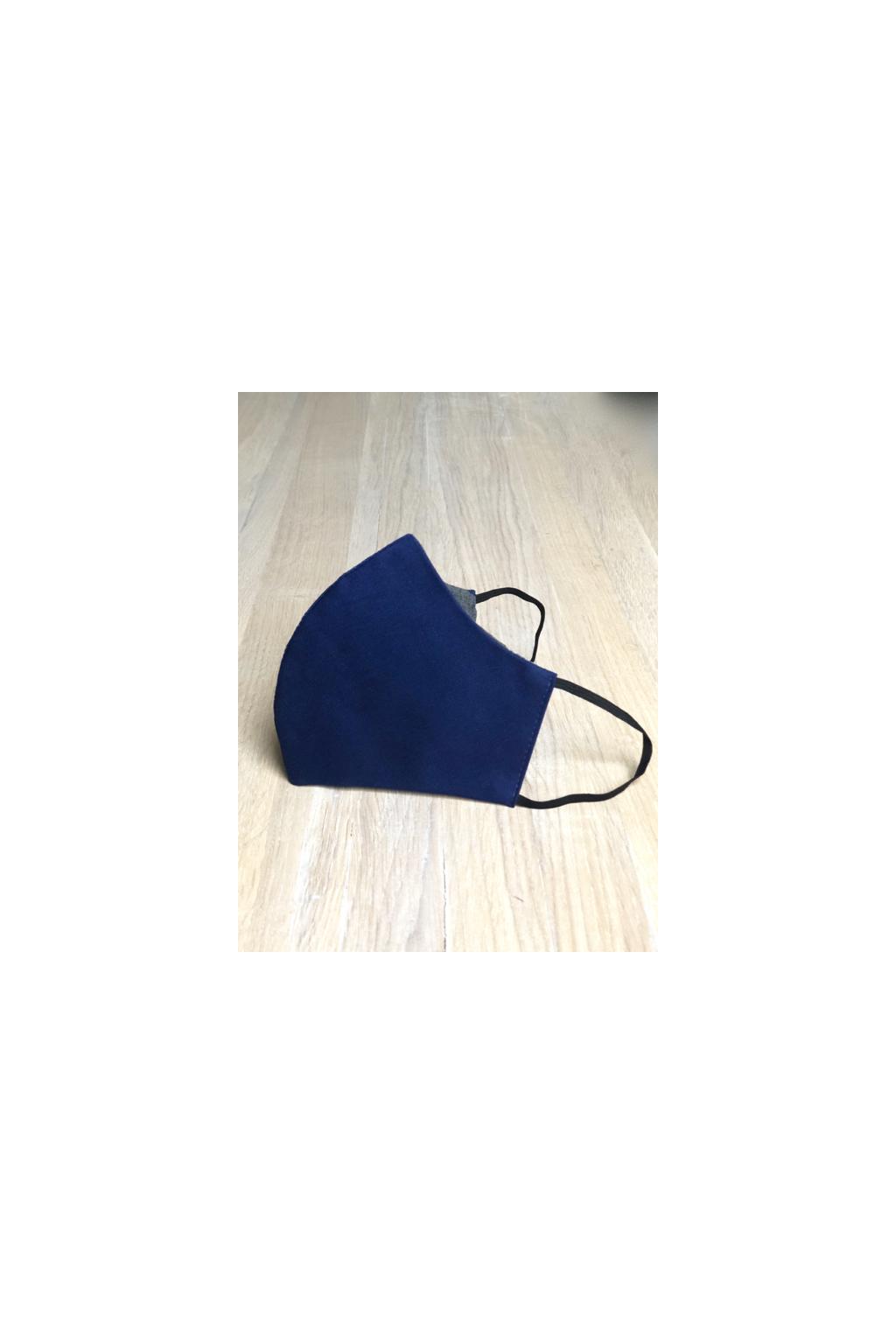 Pánská jednobarevná rouška - modrá
