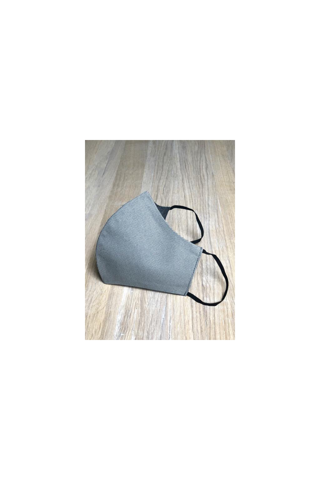 Pánská šedá rouška s jemným vzorem