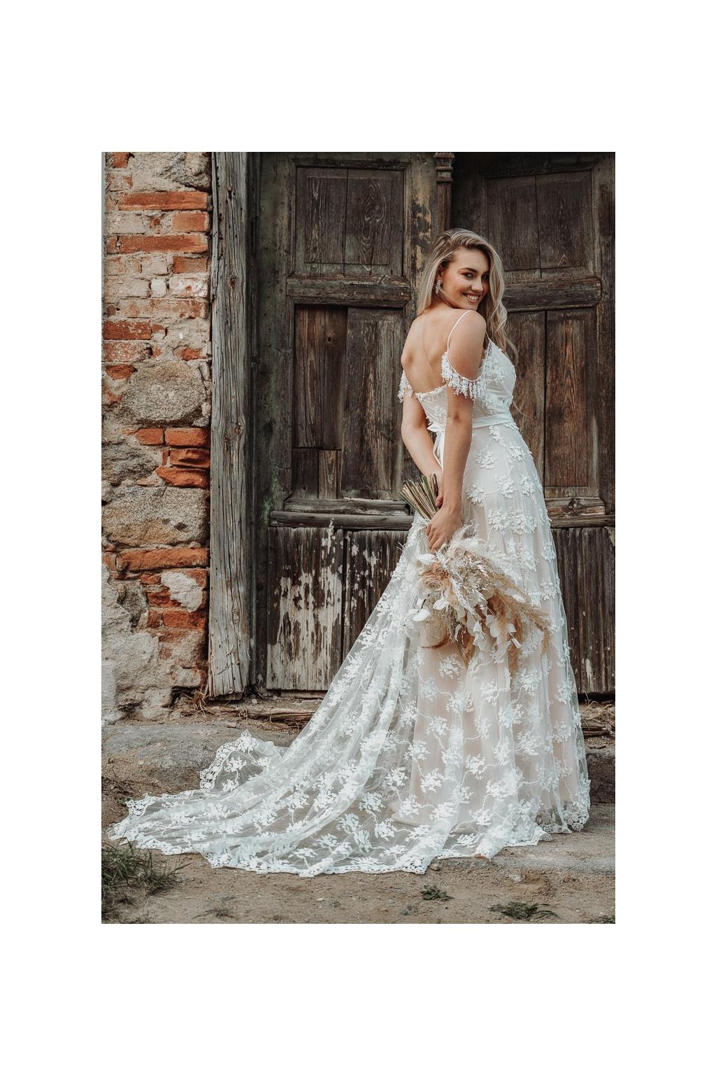 Květinové svatební šaty BONITA