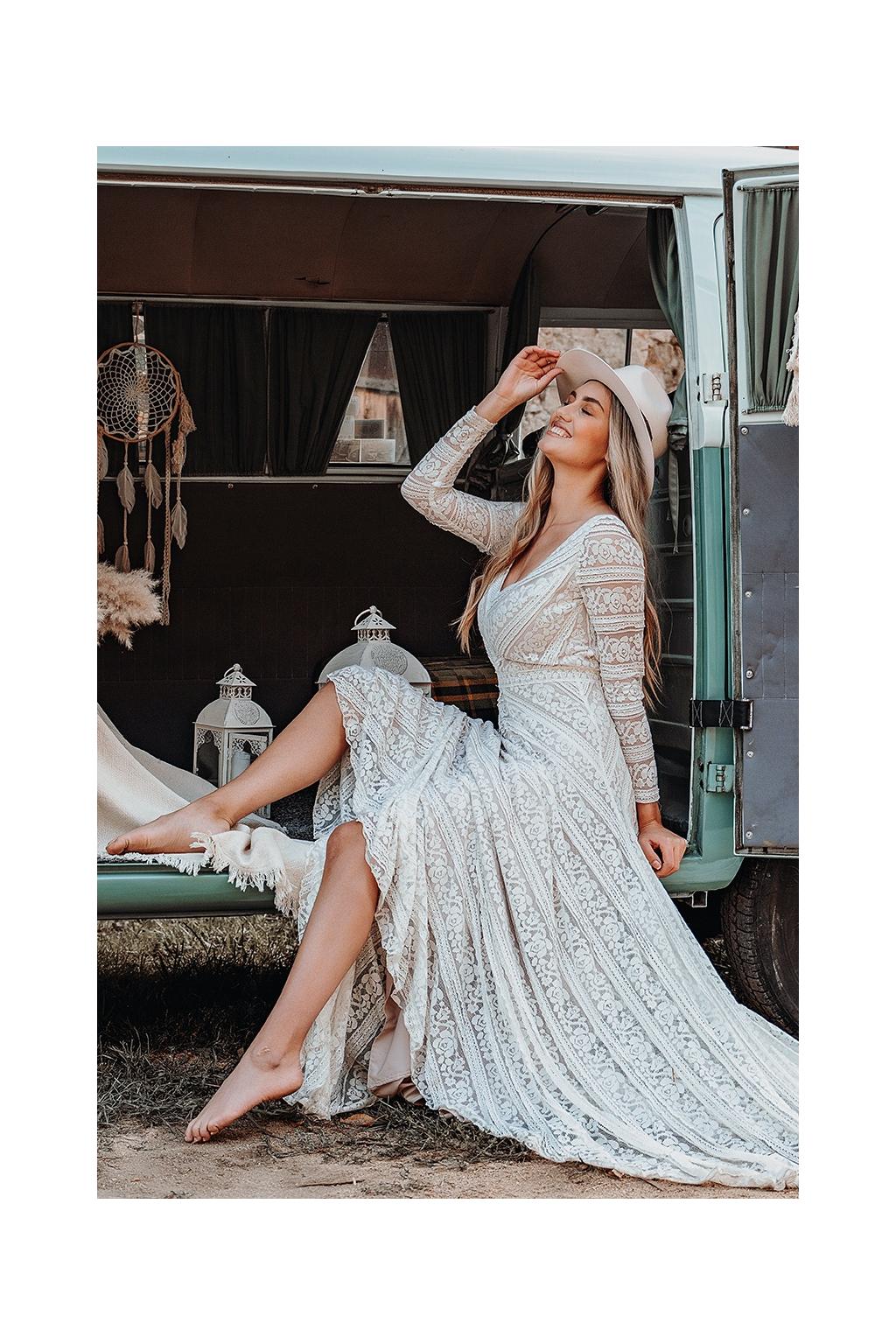 Bohémské svatební šaty LUCINDA