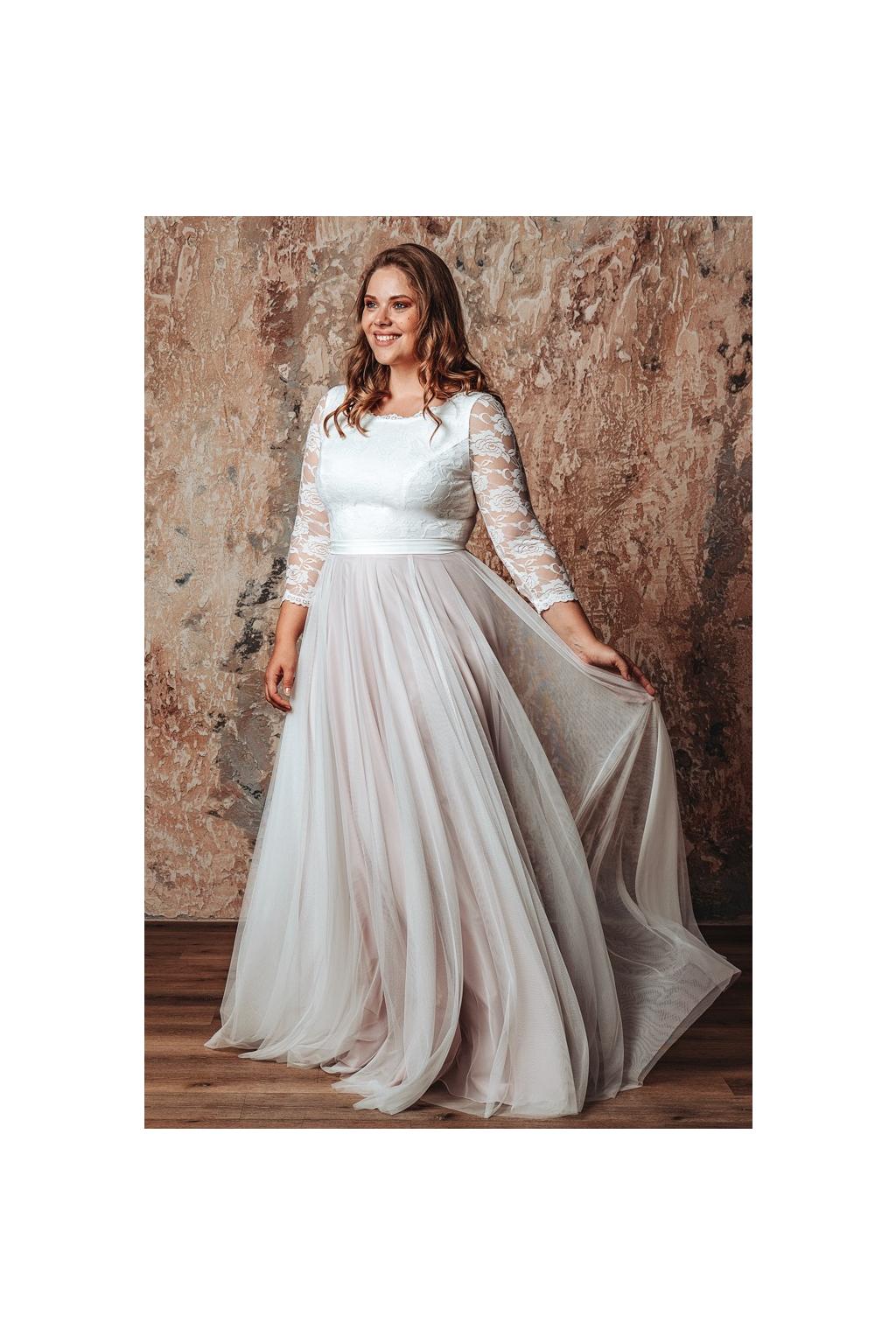 Svatební šaty s rukávy ELLIE PLUS
