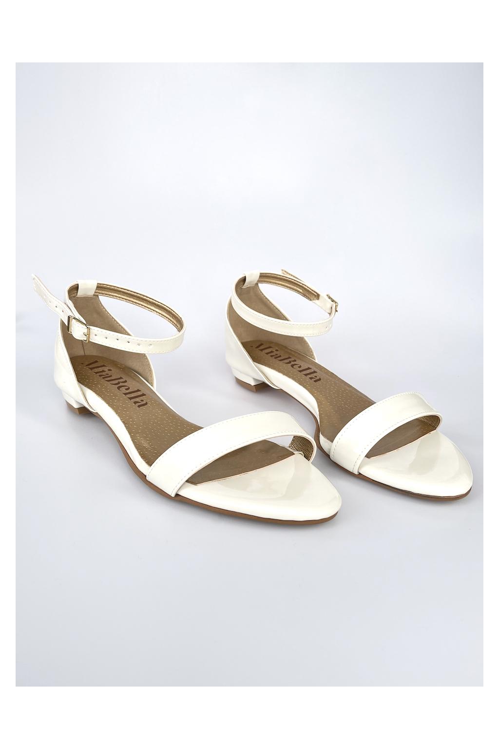 smetanové sandálky bez podpatku