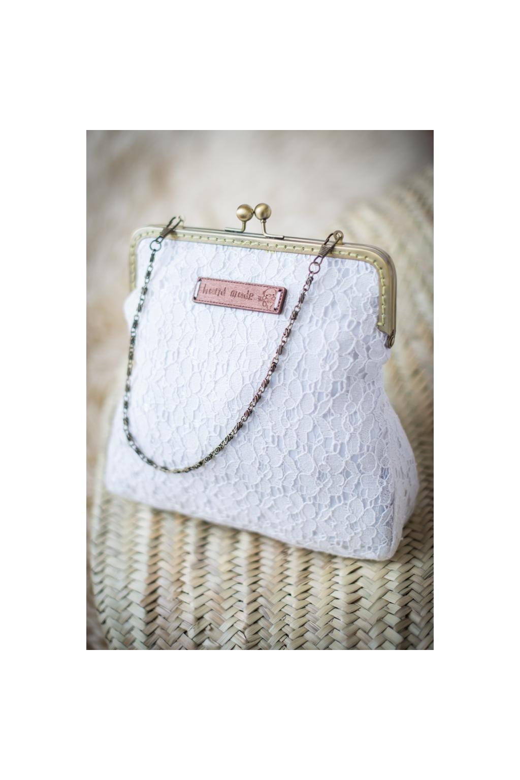 Krajková vintage kabelka hranatá