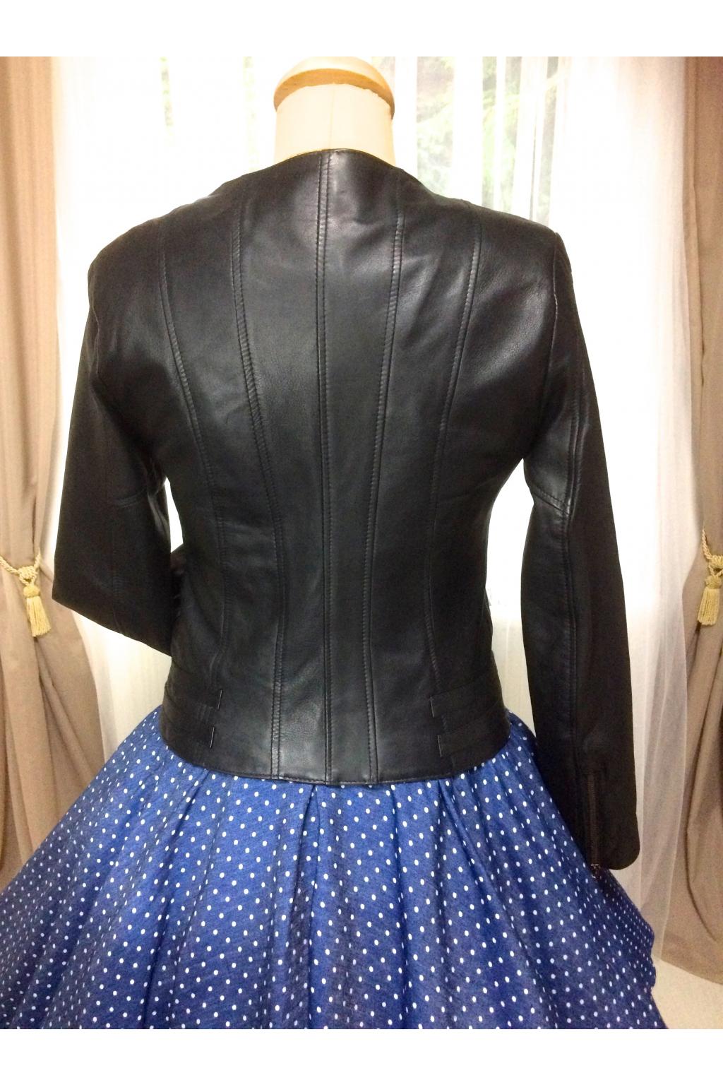 36f0ed375 Dámská kožená bunda - MiaBella