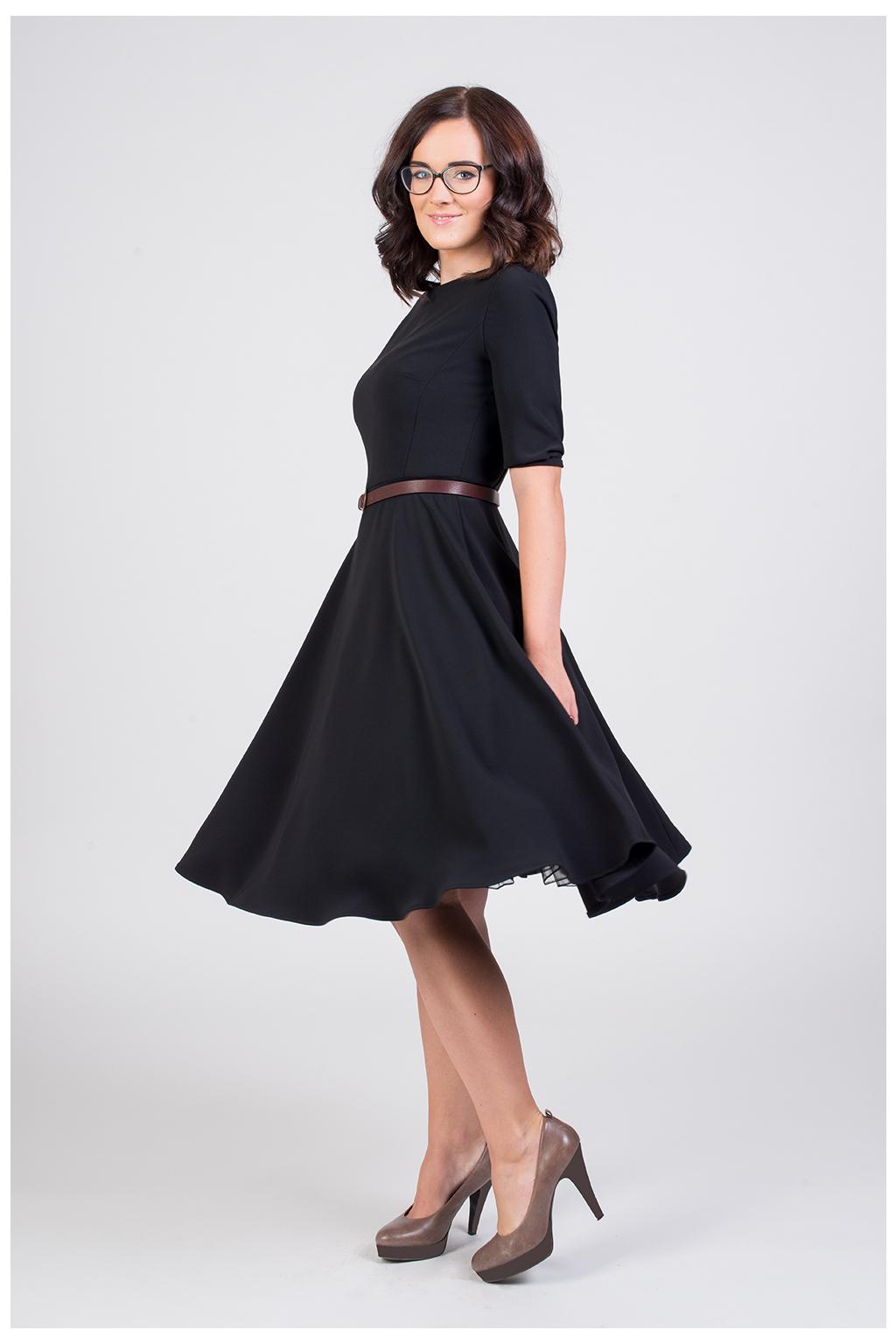 ADELE retro šaty - černa, tmavě modra, královsky modrá