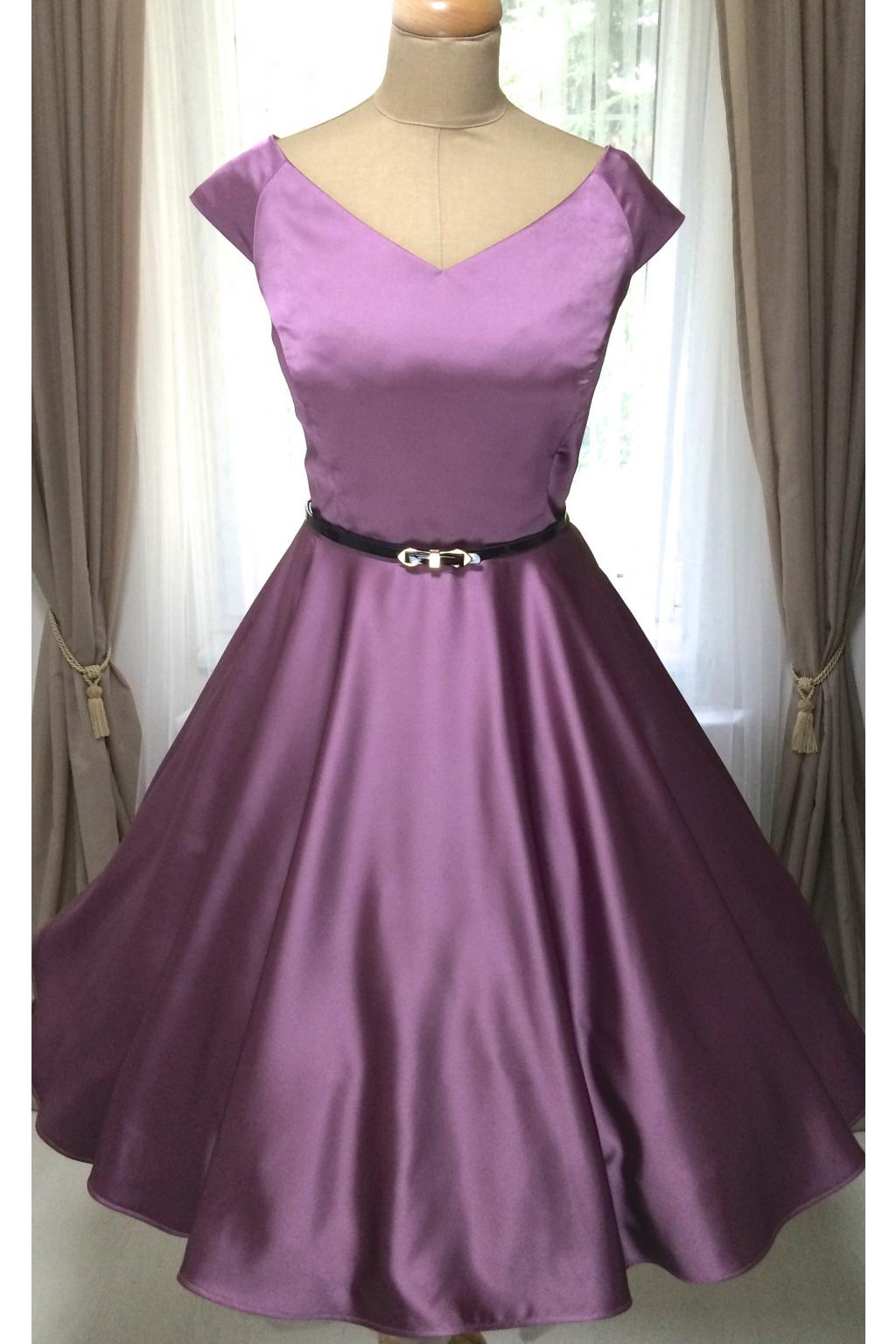 MILLA společenské šaty fialové