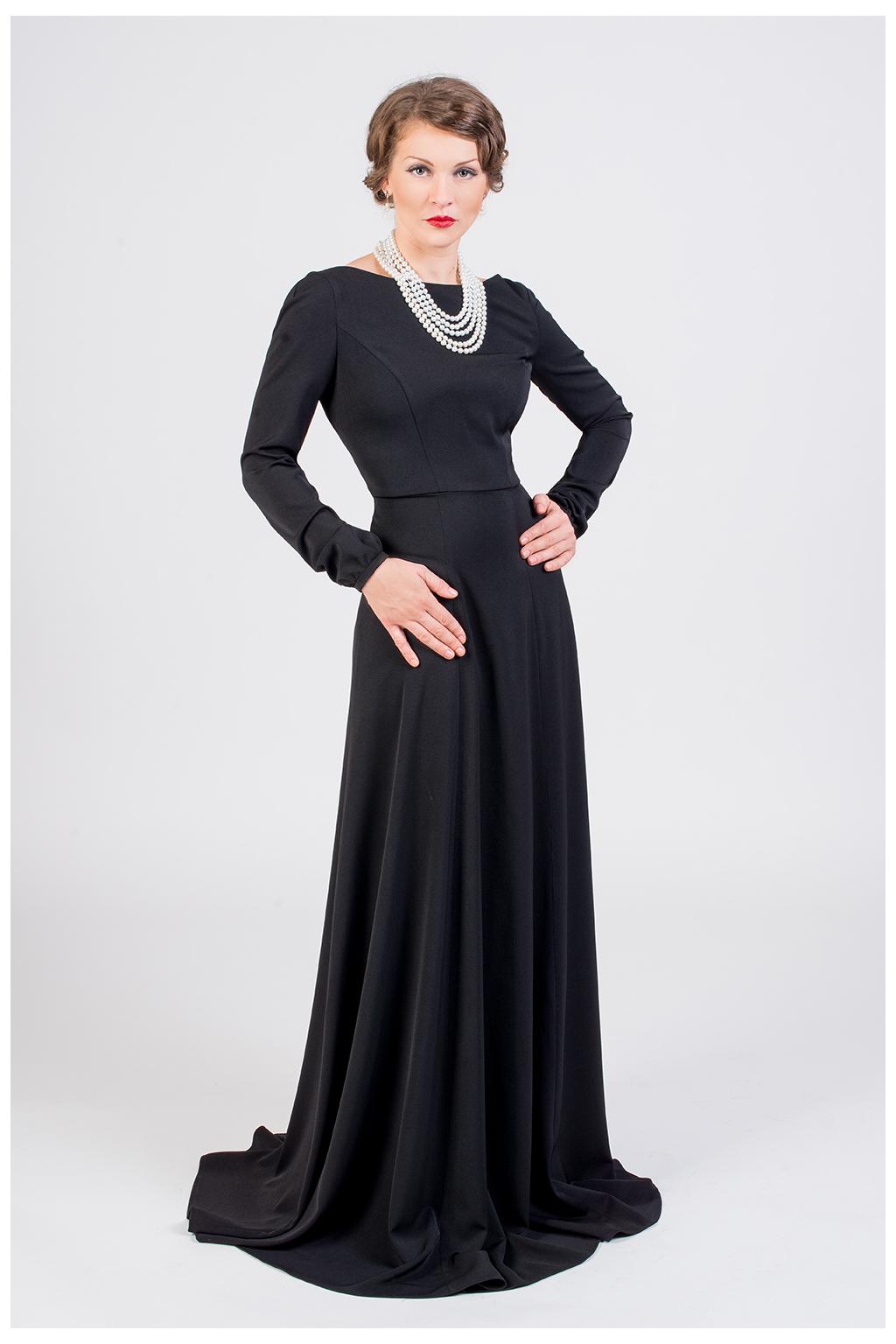 Dlouhé společenské šaty černé · Dlouhé společenské šaty černé 08a454edb7