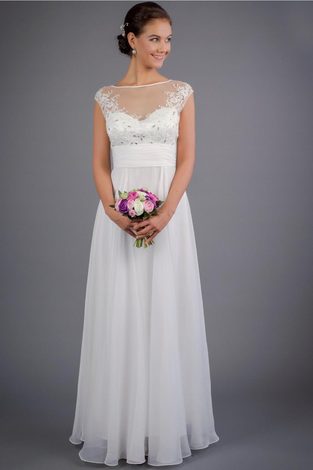 Jemné svatební šaty se zdobeným živůtkem · svatebni saty se zdobenym  zivutkem 1 ... a8f04cf334
