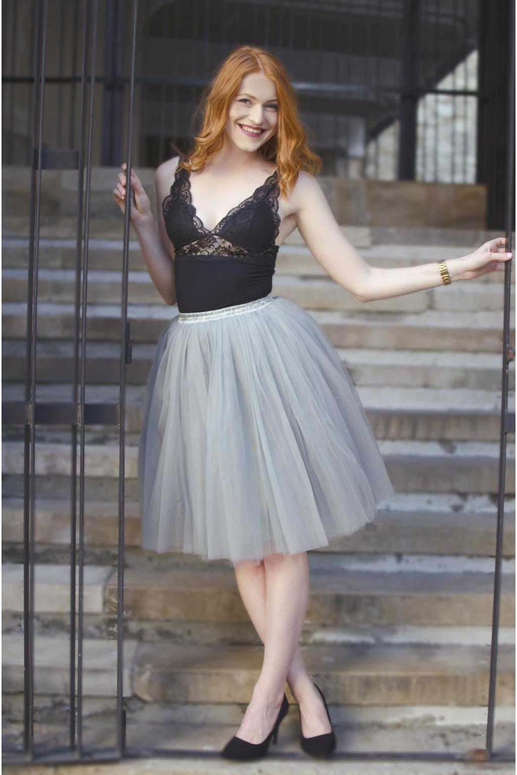 Dámská tylová TUTU sukně šedá - MiaBella 2e61e61fd5