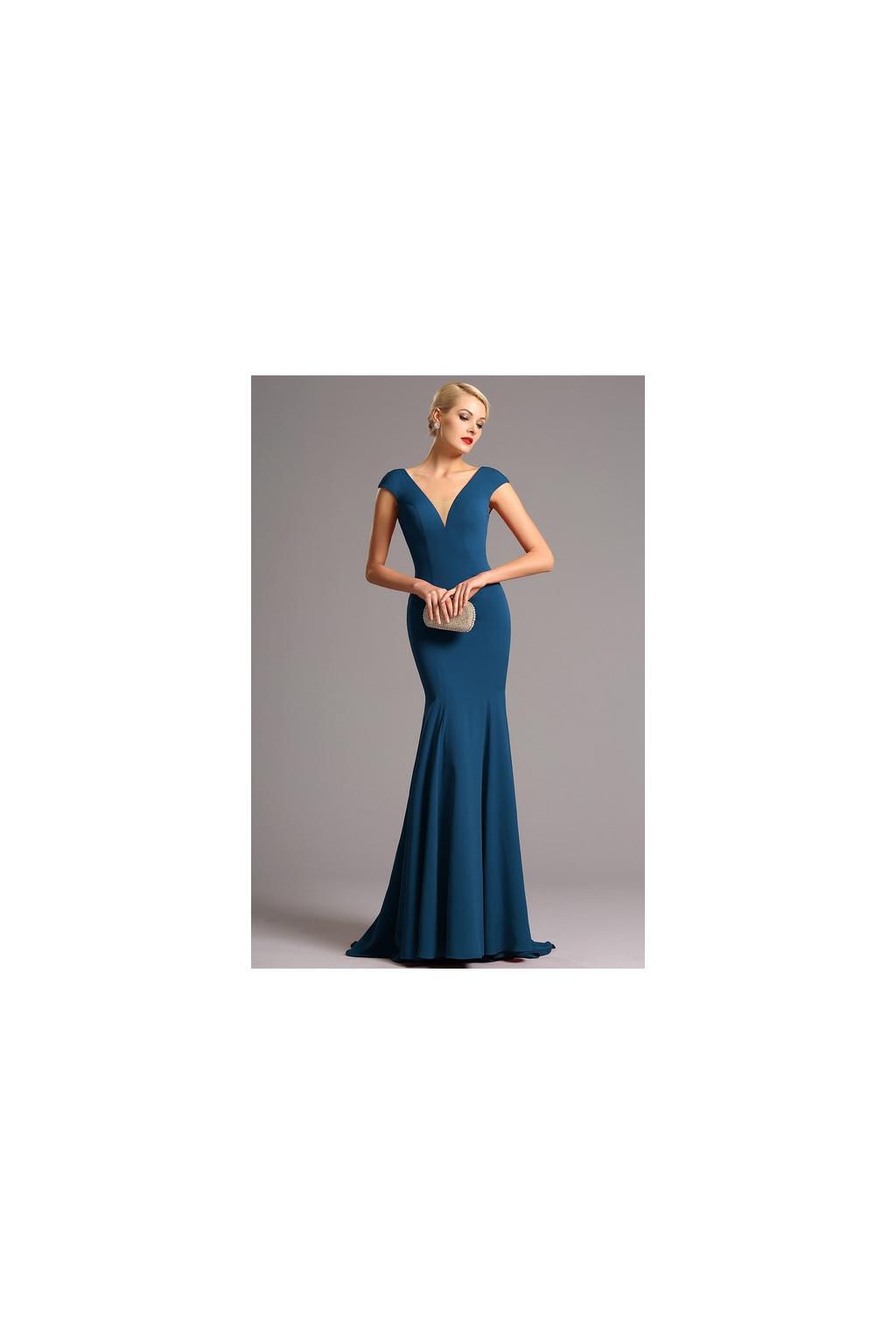 Vysoce elegantní modré plesové šaty c05af014f47