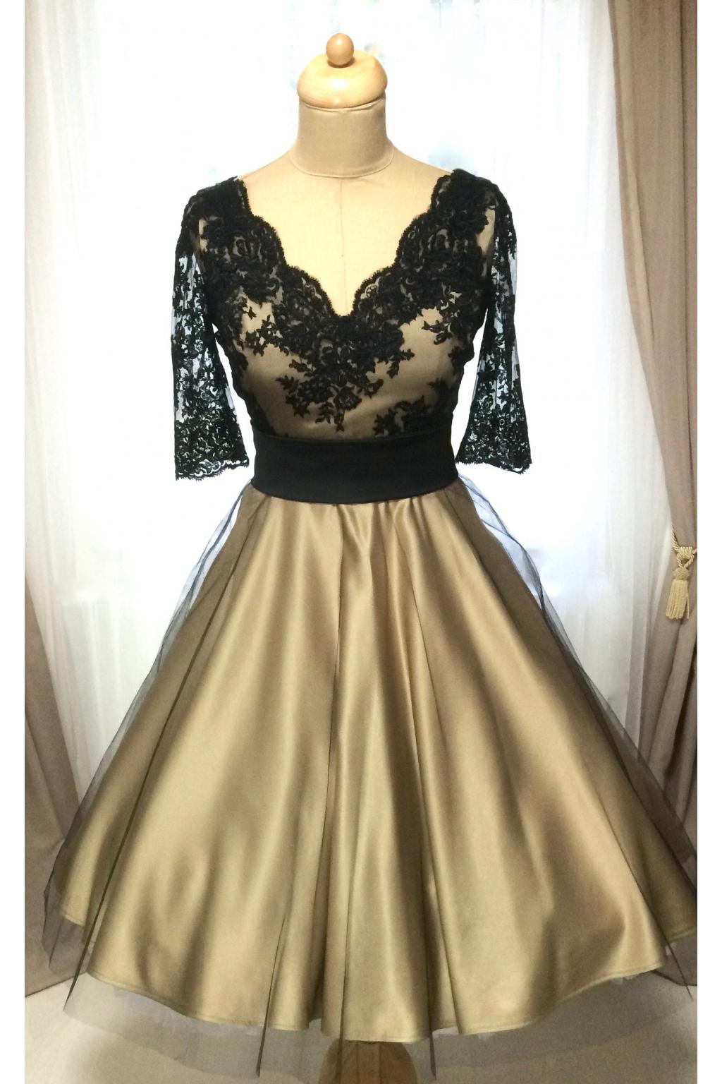 Společenské šaty LOREN s krajkovým živůtkem