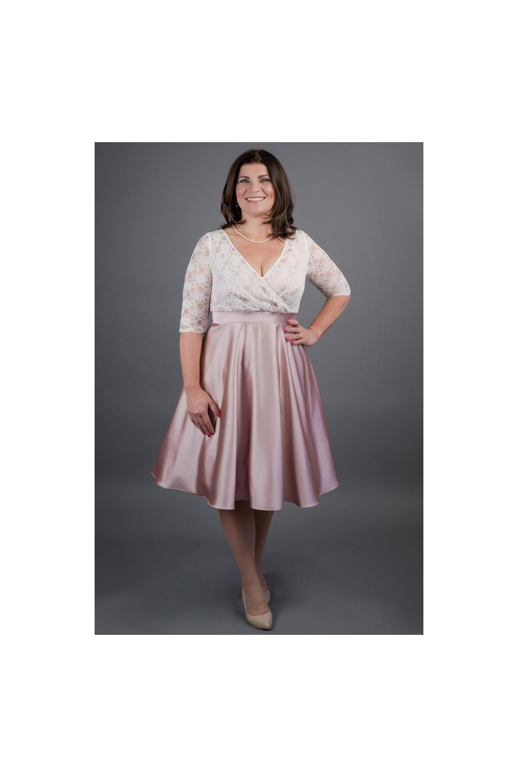 Šaty MARGARET se skládaným krajkovým živůtkem