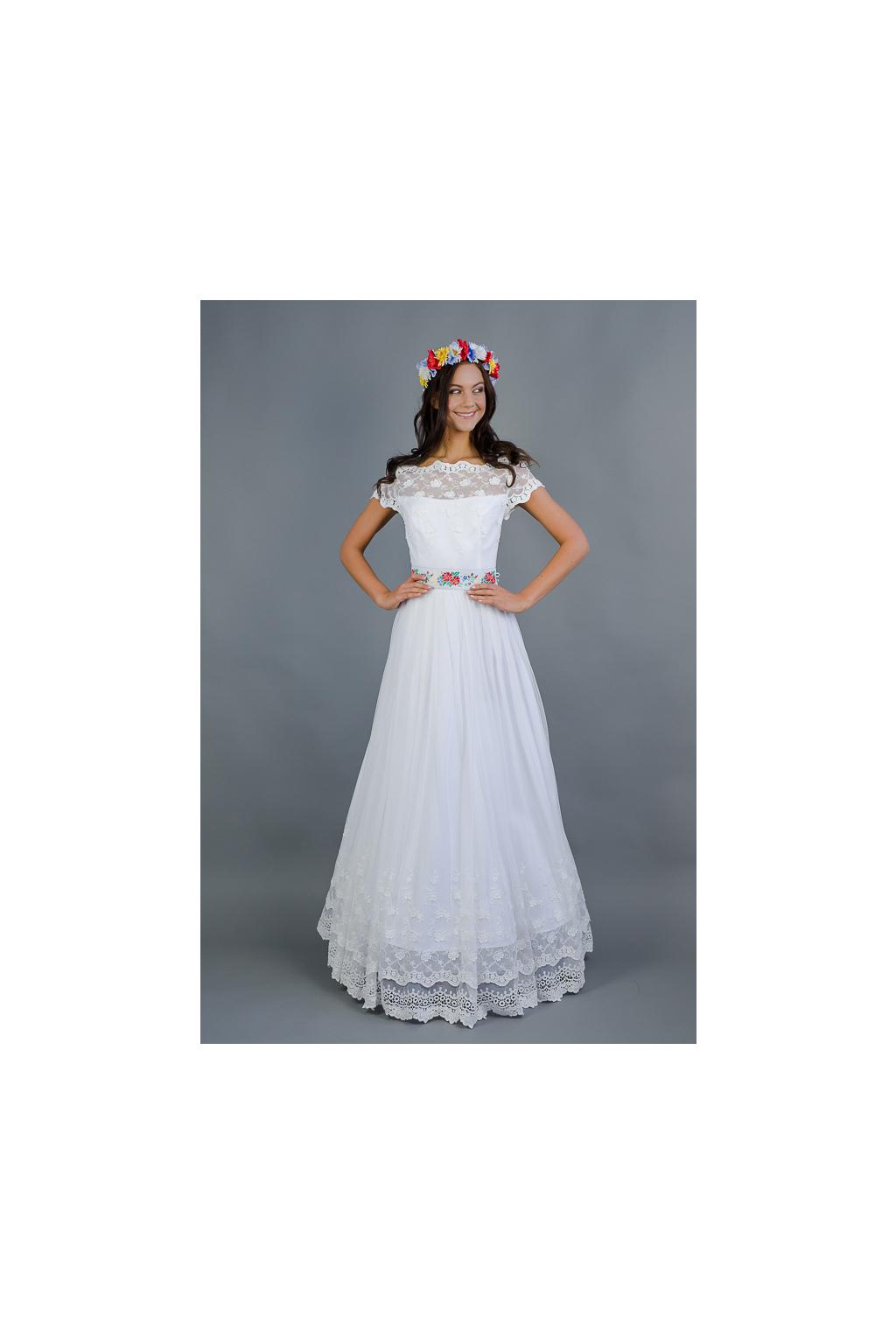 Dlouhé folklórní svatební šaty - MiaBella c90476515c
