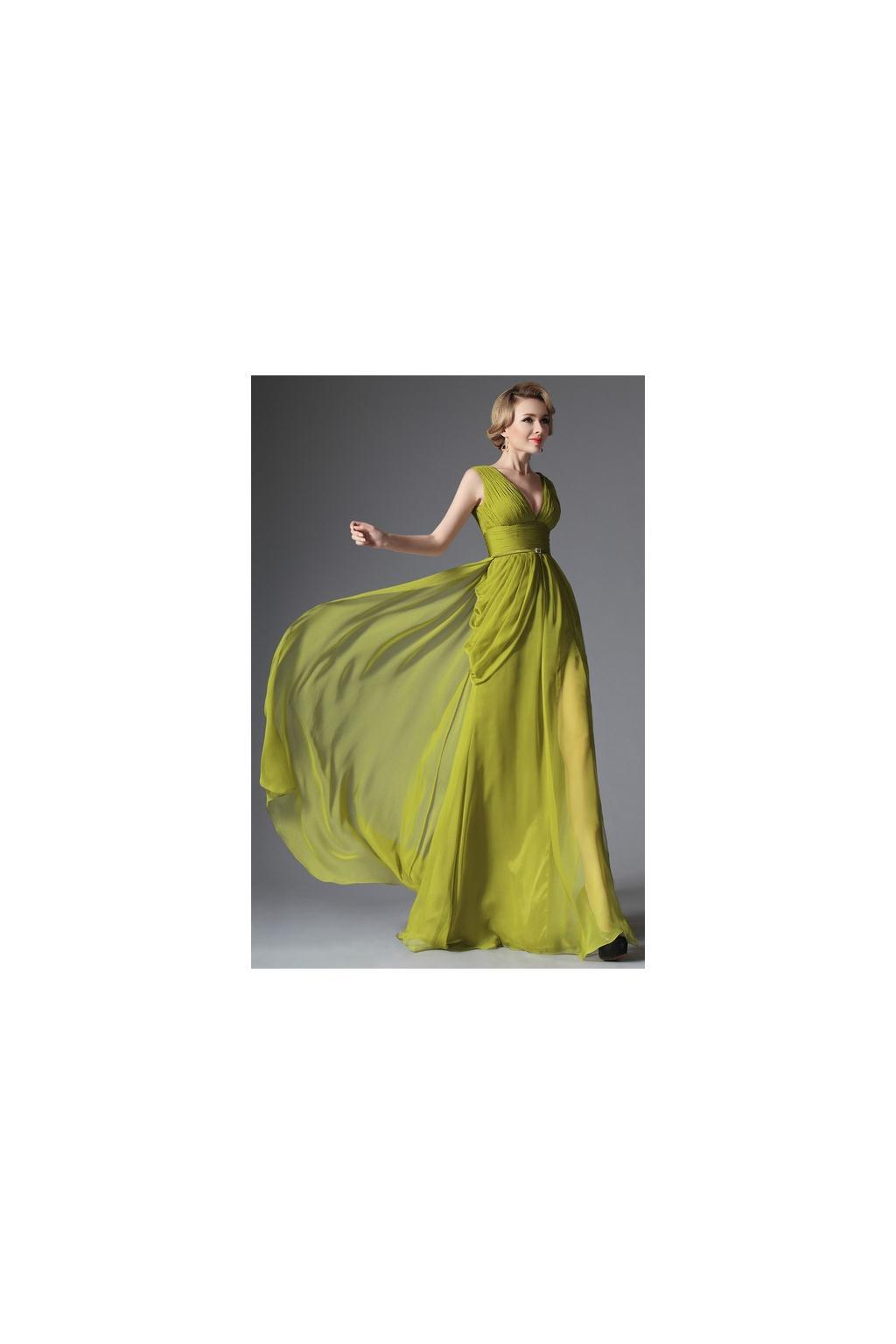 Splývavé společenské šaty na široké ramínka - vel. 36