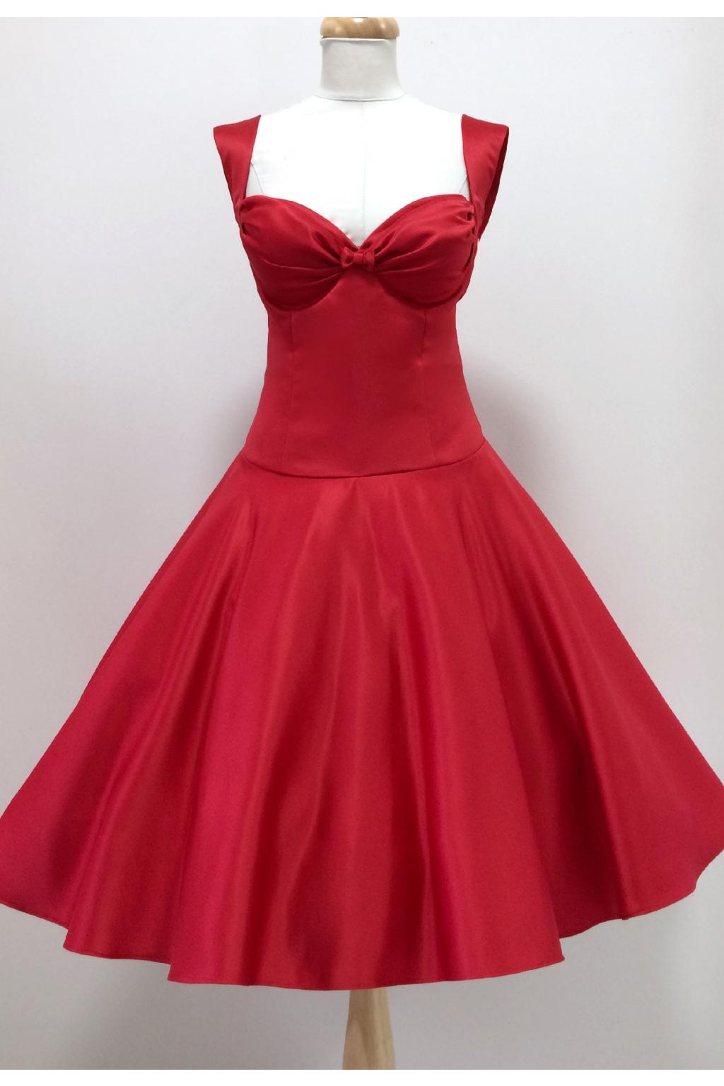 Červené krátké plesové šaty Louisa