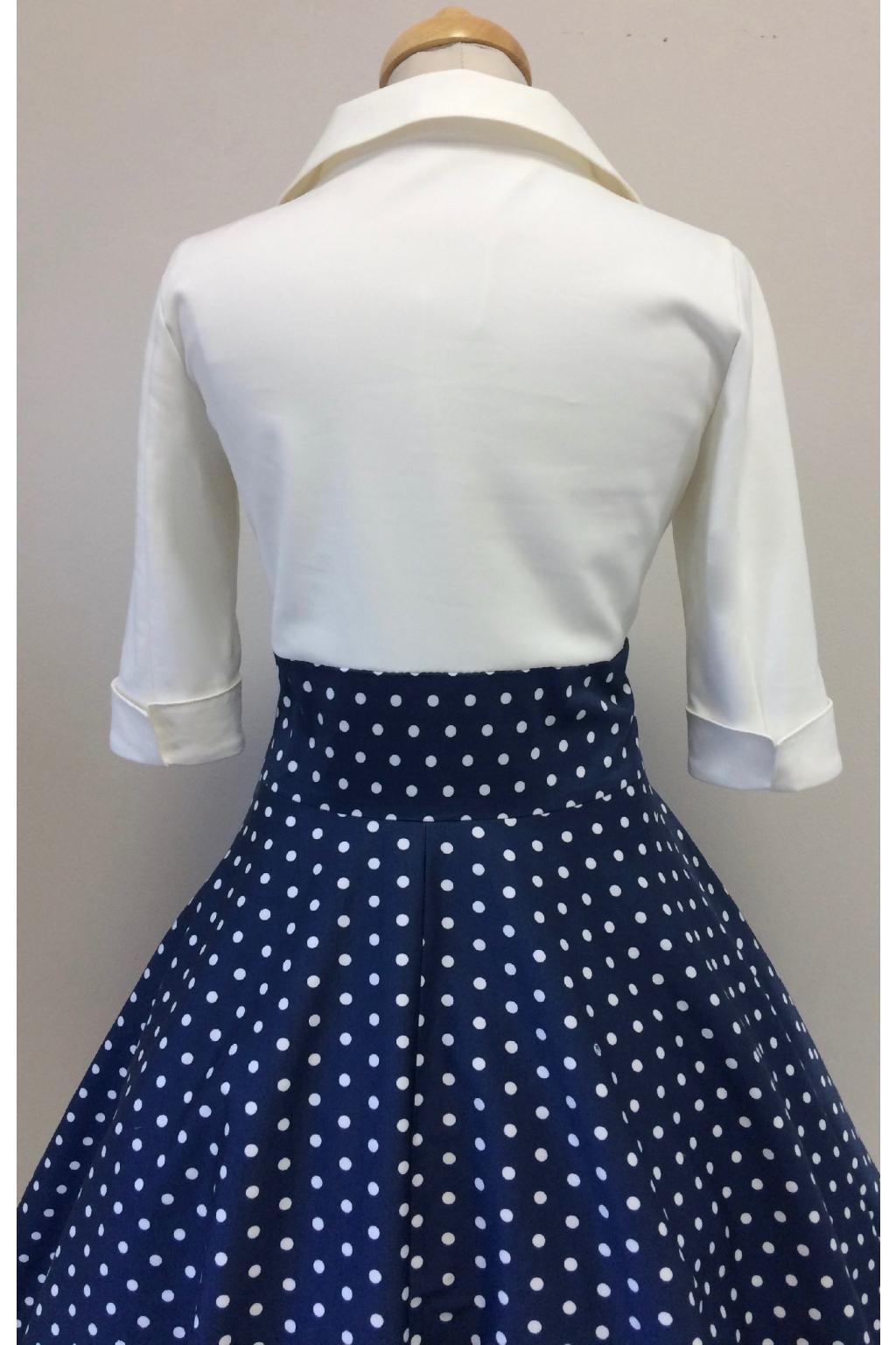 Košilové šaty Margaret s puntíkatou sukní - MiaBella 3967a1aaa8