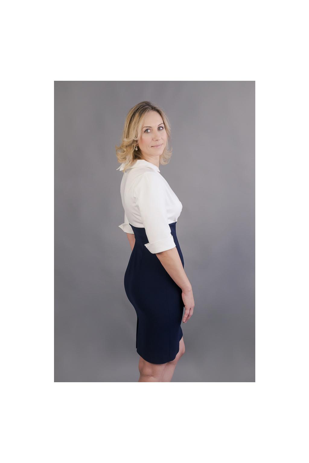 Košilové šaty Margaret s pouzdrovou sukní - MiaBella 7d432144ff