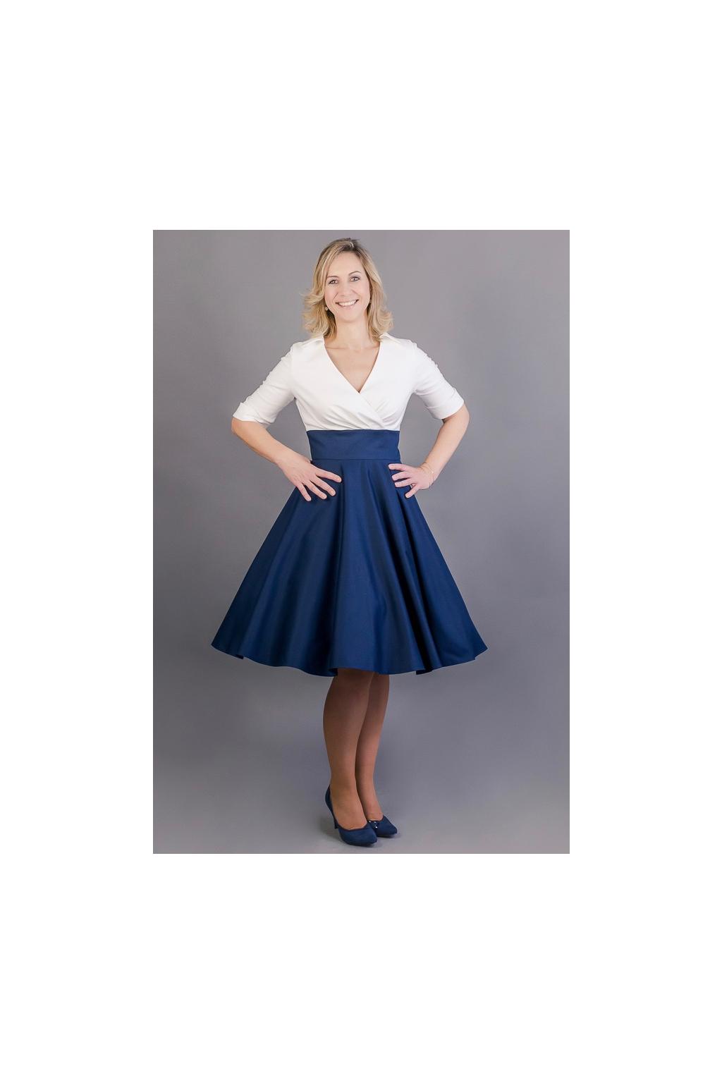 Košilové šaty Margaret s kolovou sukní - MiaBella eb0bd6ee3b