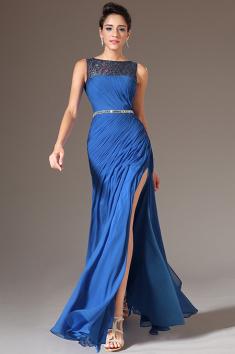 Zářivě modré elegantní šaty