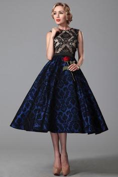 Společenské retro šaty bez rukávů