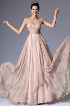 Jemné plesové šaty zdobené kamínky
