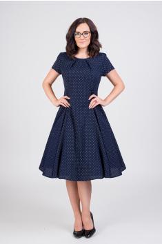 LAURA vlněné šaty s jemným puntíkem