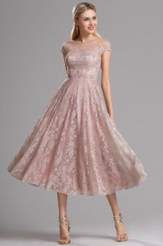 Krátké plesové retro šaty krajkové