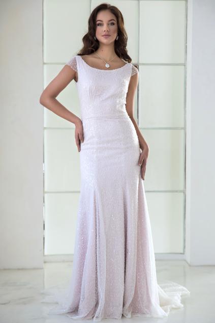 Svatební šaty AMELIE z třpytivé krajky s perličkami